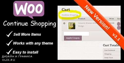 CodeCanyon - WooCommerce Continue Shopping Link v3.1 - 6380456