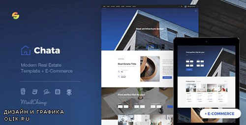 ThemeForest - Chata v1.0 - Modern Real Estate / Architecture Template + E-Commerce - 20074609