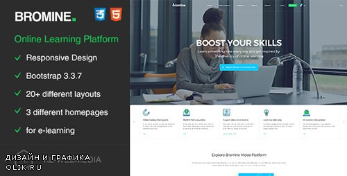 ThemeForest - Bromine - Online Learning Platform HTML5 Template (Update: 26 May 17) - 19567266