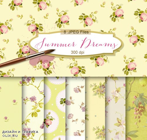 Flower Background Textures - Summer Dreams, part 3