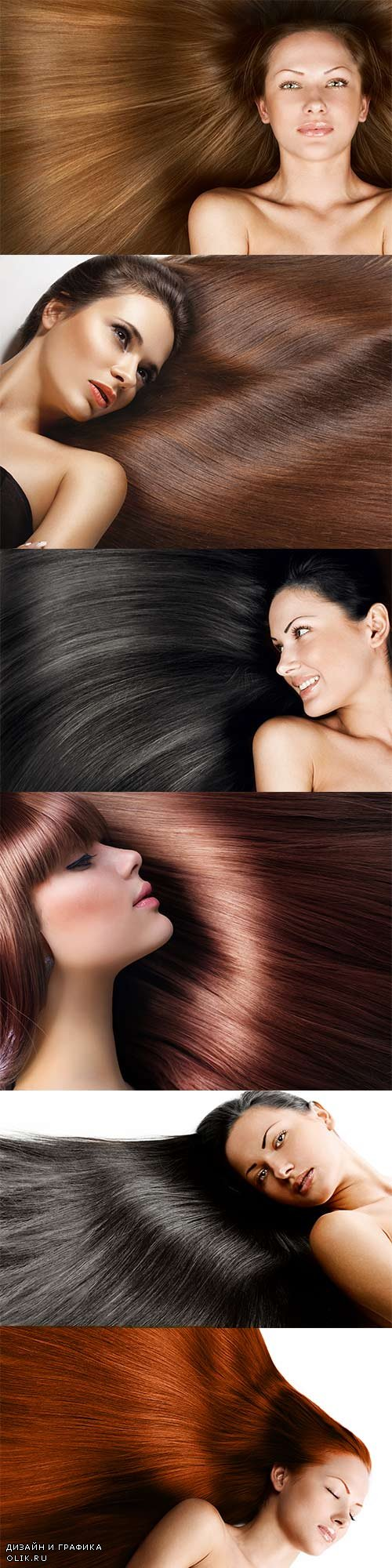 Luxurious long hair raster graphics