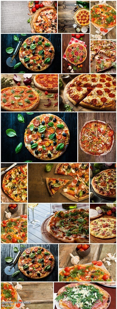Delicious pizza on the table - 20xUHQ JPEG Photo Stock