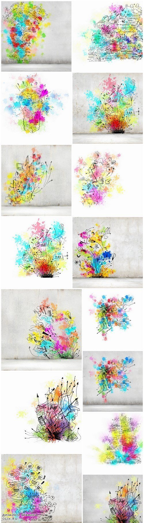Multicolored Creative Ideas & Business Concept 2 - 15xUHQ JPEG Photo Stock