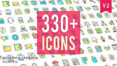 Icons Pack 330 Animated Icons - Project for AFEFS (Videohive)