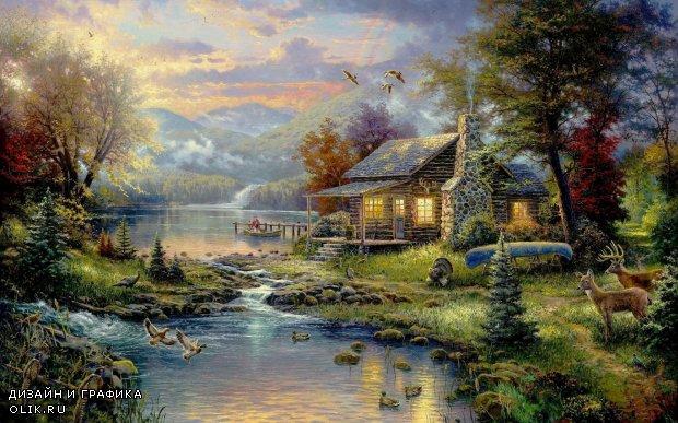 Сказочно красивые работы. Английские домики и пейзажи.