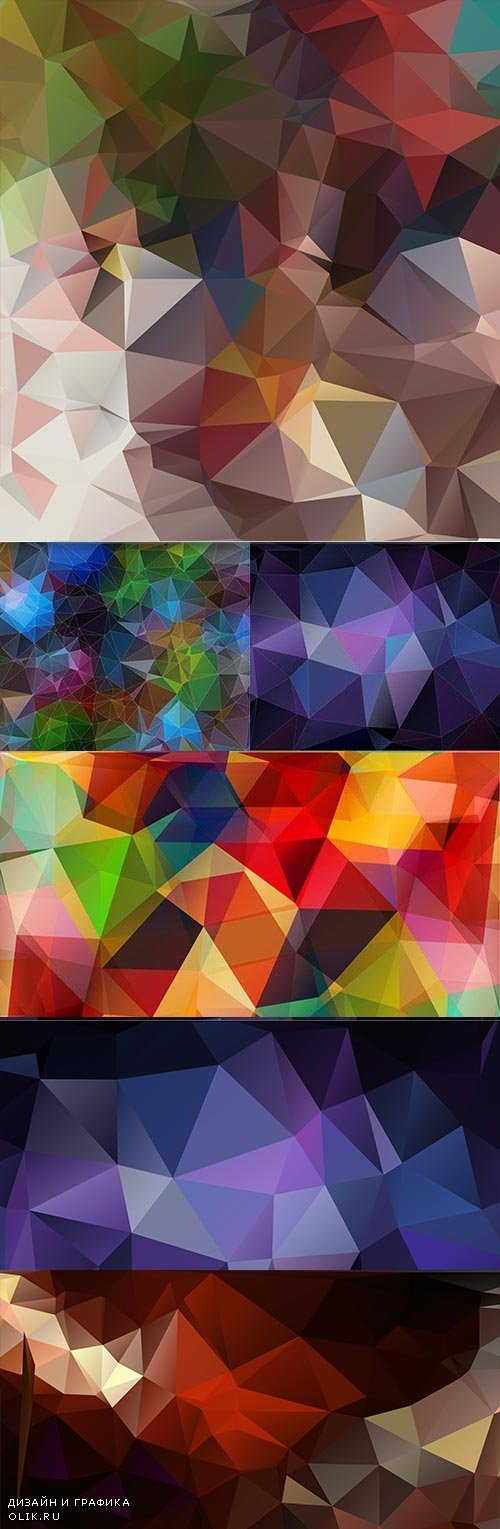 Abstract modern Polygon geometric background 3
