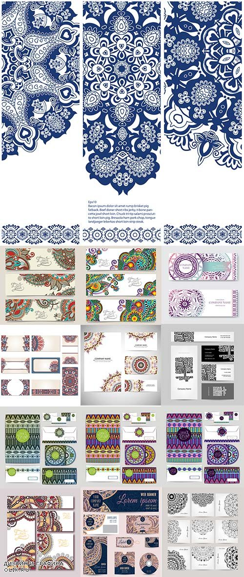 Ethnic Ornament Card - 25 Vector