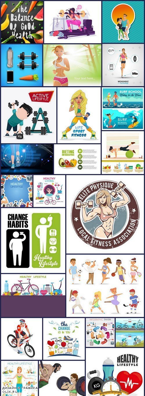 Healthy Lifestyle - 25 Vector