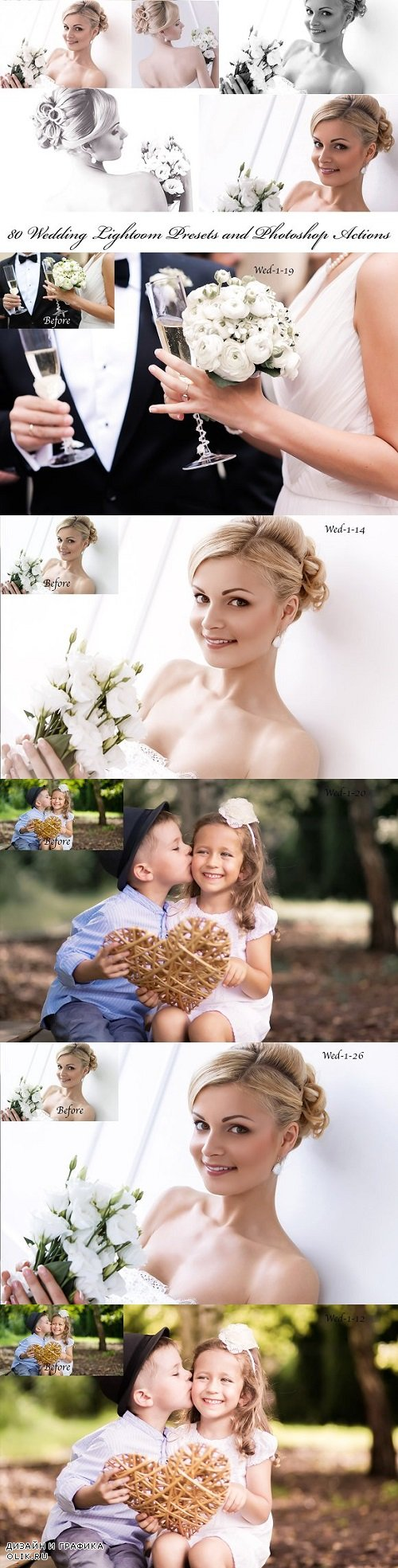 80 Wedding Presets and Actions 1984713