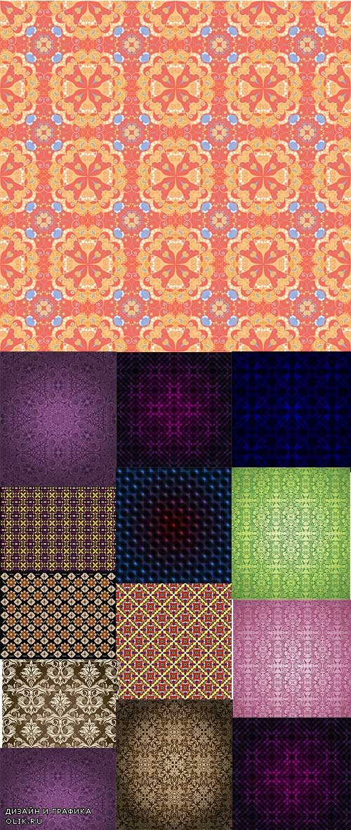 Vector patterns backgrounds 22 eps