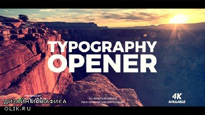 Typography Opener 20836352 - Project for After Effects (Videohive)