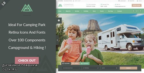 ThemeForest - Camping Village v1.2 - Campground Caravan & Hiking Tent Accommodation WP - 14950641