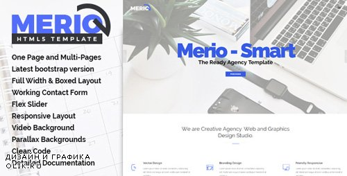 ThemeForest - Merio v1.0 - Creative One Page Parallax - 20331608