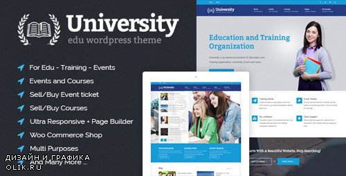 ThemeForest - University v2.0.23 - Education, Event and Course Theme - 8412116
