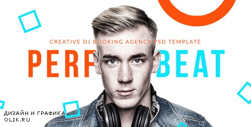 ThemeForest - PerfectBeat v1.0 - Creative DJ Booking Agency PSD Template - 18345823