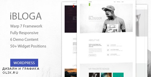 ThemeForest - iBloga v1.0.1 - Photo, Fashion, Music, Nightlife, Literary & Art Professional Blog Template - 15859129