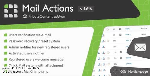 CodeCanyon - PrivateContent - Mail Actions add-on v1.616 - 3606728
