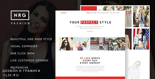 ThemeForest - NRG Fashion v1.2 - Model Agency One Page Beauty Theme - 14032825
