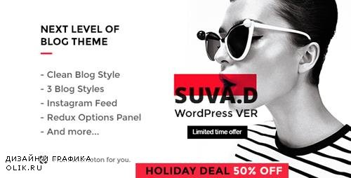 ThemeForest - SUVAD v1.1 - Personal Blog WP Theme - 17216288