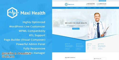 ThemeForest - Maxi Health v1.3.4 - Responsive Medical WordPress Theme - 13965325