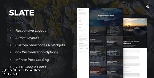 ThemeForest - Slate v2.1.0 - Responsive WordPress Blog Theme - 13642269