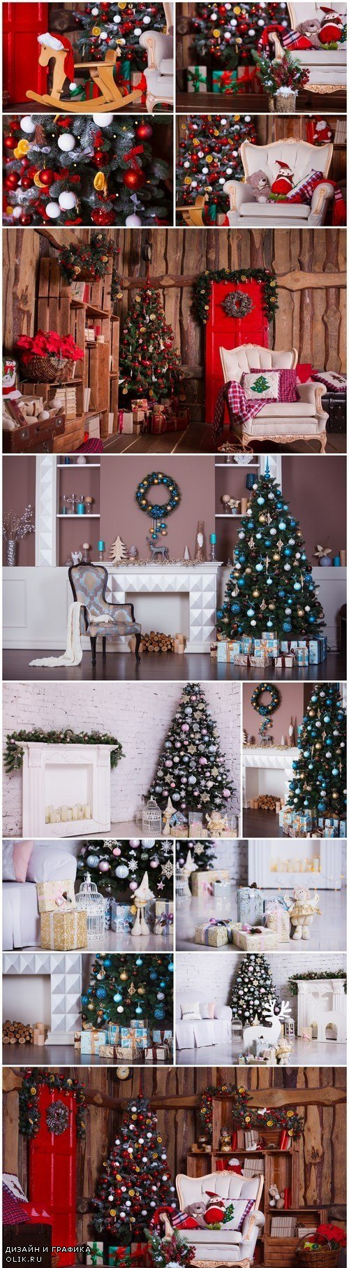 Interior room decorated in Christmas style - 13xUHQ JPEG