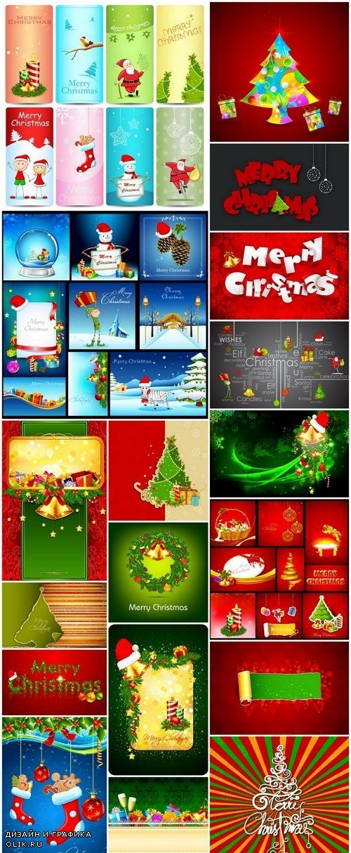 New Year 2017 & Christmas Design 7 - 18xEPS Vector Stock