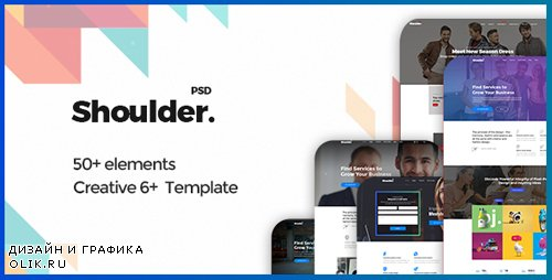 ThemeForest - Shoulder v1.0 - Multi-Purpose Consulting - Business, Finance PSD Template - 20483901