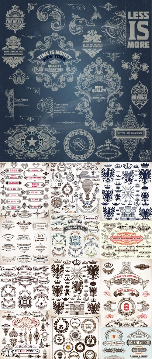 Vintage and Retro Design Elements 25xEPS