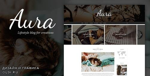 ThemeForest - Aura v1.0 - Personal Blog PSD Template focused on Blogger, Traveler, Photographer needs with PSD Files - 20241427