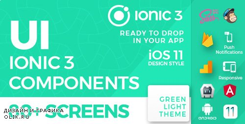 CodeCanyon - Ionic 3 UI Theme / Template App - iOS 11 style - Green Light (Update: 8 November 17) - 20884976