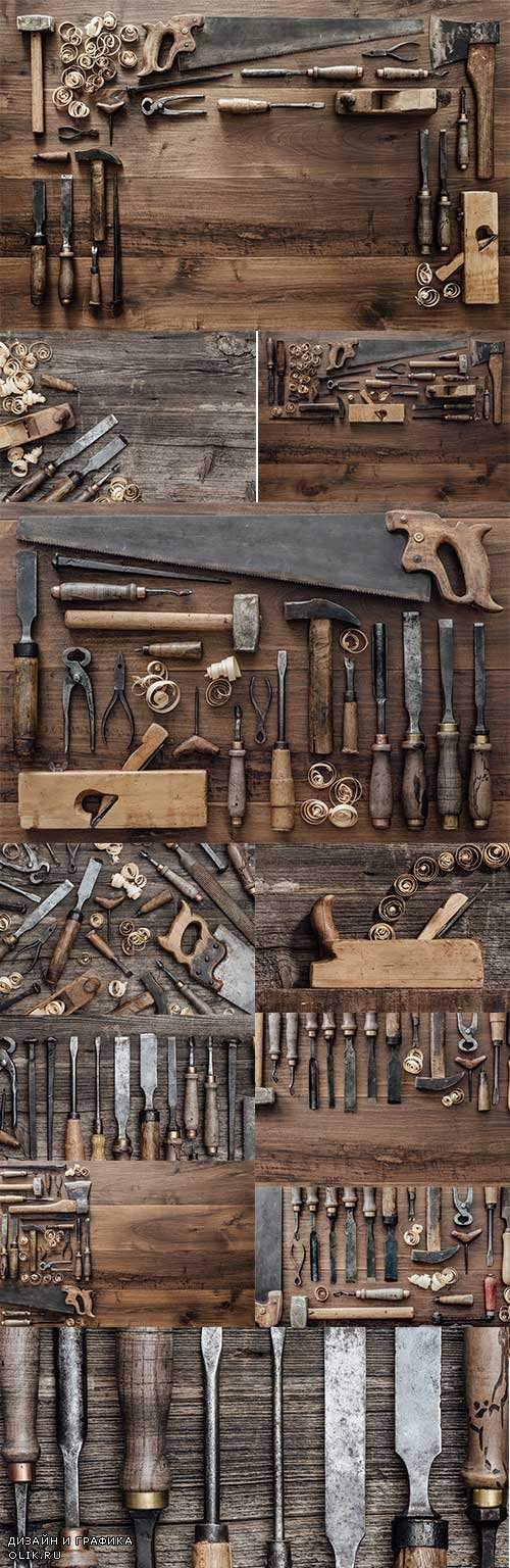 Professional tools of carpenter for woodwork