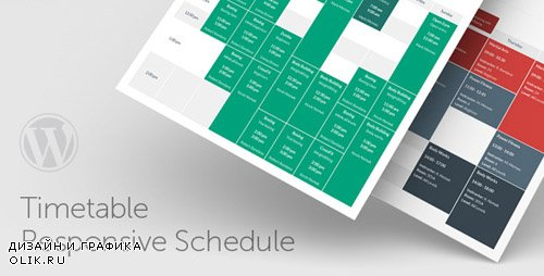 CodeCanyon - Timetable Responsive Schedule For WordPress v5.0 - 7010836