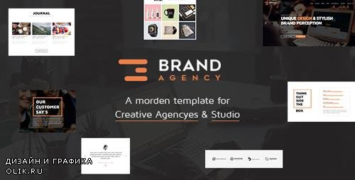 ThemeForest - Brand Agency v1.1 - One Page HTML Bootstrap Template for Agency, Startup, Corporate, Business - 18597593