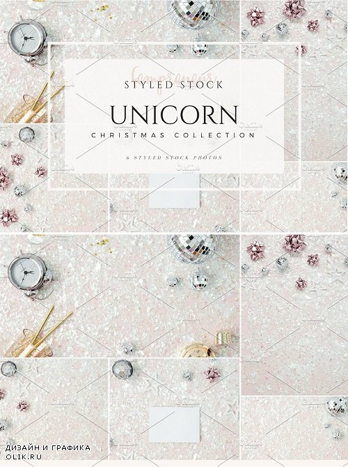 Unicorn Christmas Styled Stock 2076725