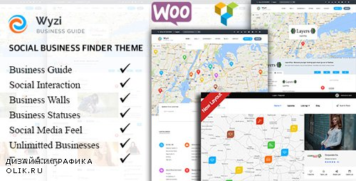 ThemeForest - Wyzi v2.1.7.2 - Business Finder and Service Provider Booking WordPress Social Look Directory Listing Theme - 18850856 - NULLED