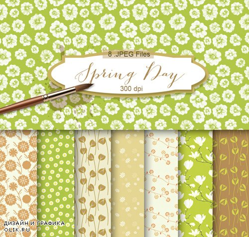 Flower Background Textures - Spring Day, part 2