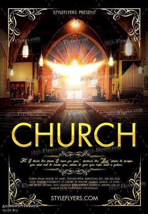 Church V3 2018 Premium PSD Flyer Template