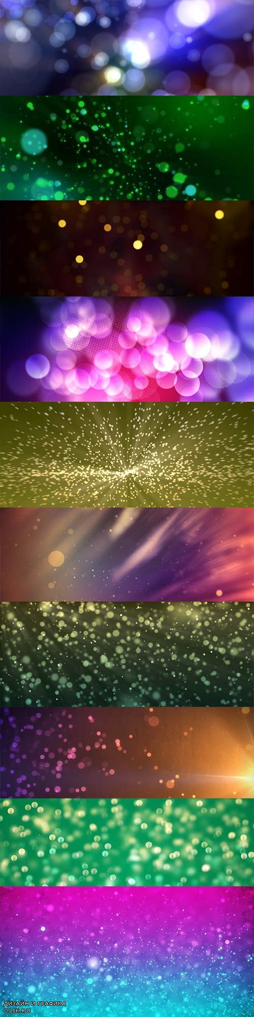 10 bokeh motion backgrounds