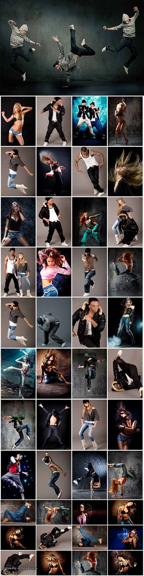 100 dancing people photo