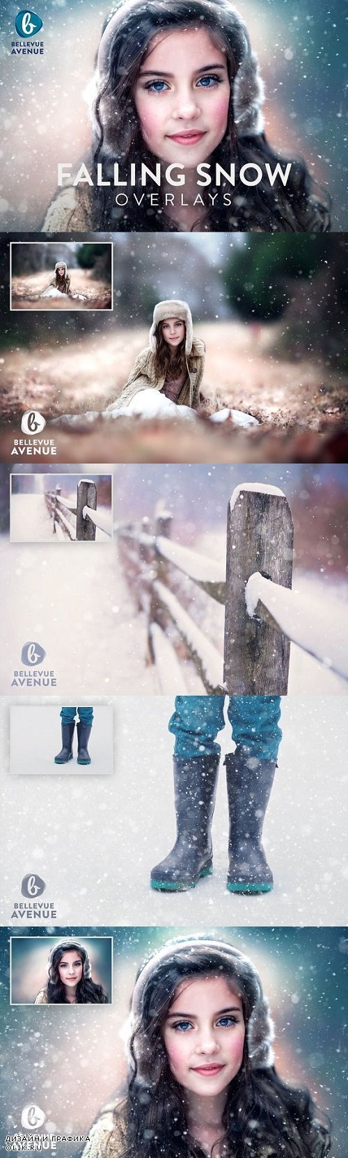 Falling Snow Overlays (Real) - 2294895
