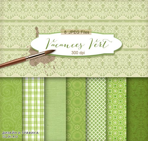 Ornamental Background Textures - Vacances Vert