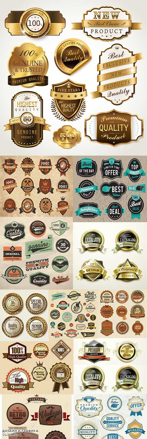 Premium and luxury quality golden badges and labels 17