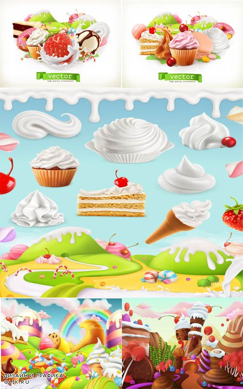 Dessert dream world background