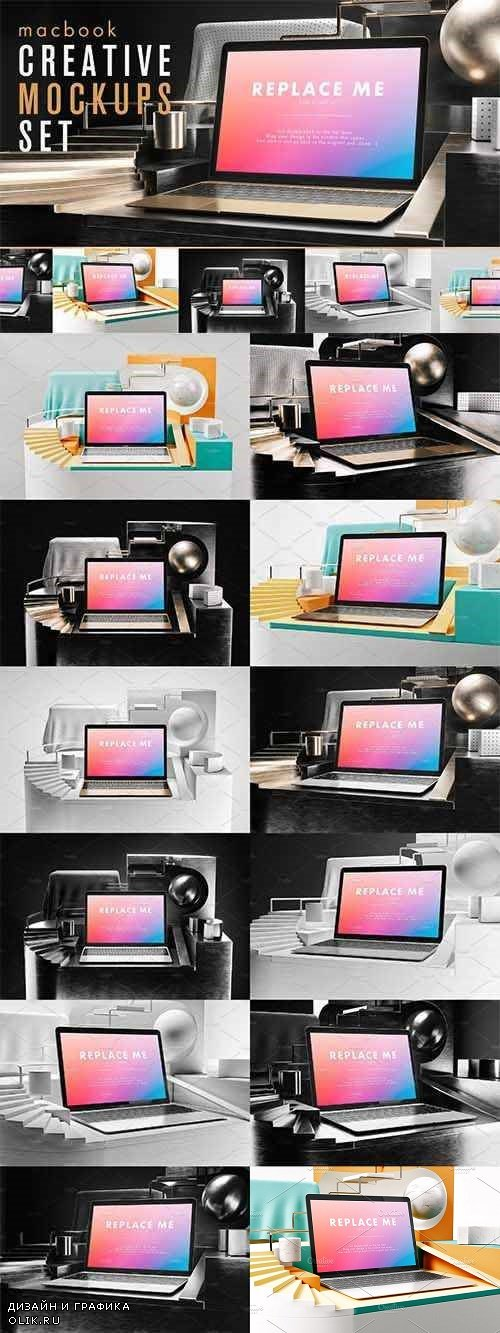 Macbook Creative Mockups Set 2359701