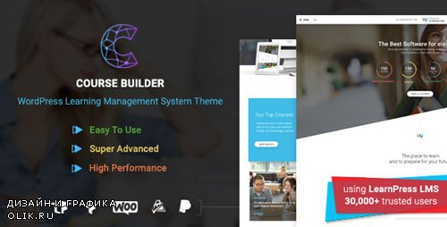 ThemeForest - WordPress LMS Theme for Online Courses, Schools & Education | Course Builder v2.2.0 - 20370918 -