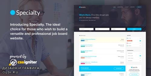 ThemeForest - Specialty v1.0 - Job board HTML template - 19680035