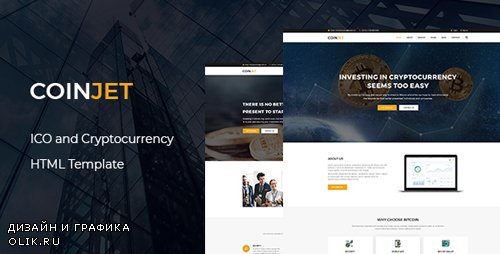 ThemeForest - CoinJet v1.0 - Bitcoin & Crypto Currency HTML Template - 22027782