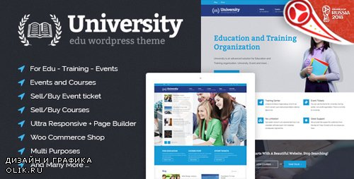 ThemeForest - University v2.1.3.1 - Education, Event and Course Theme - 8412116