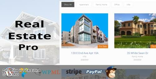 CodeCanyon - Real Estate Pro v1.3.9 - WordPress Plugin - 13245602